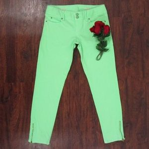 Lilly Pulitzer Neon Green Jeans Sz 2 Worth Skinny